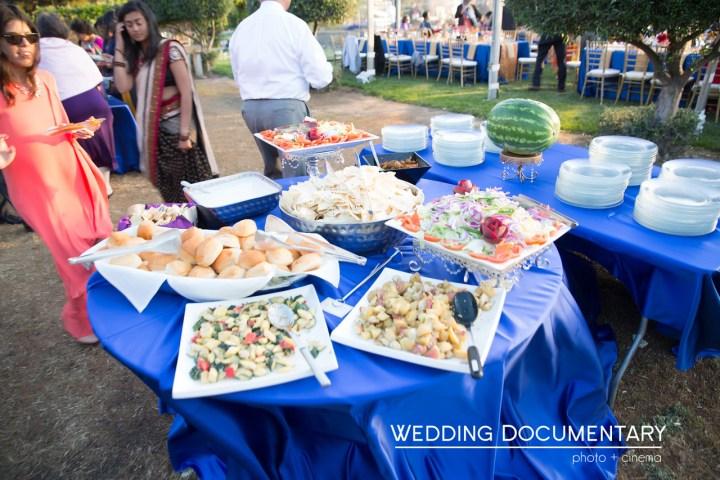 Indian food at a wedding