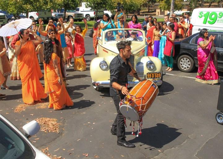 Ashmi-Suraj-Indian-wedding-venue-baraat-Hindu-Jain-San-Diego-dhol