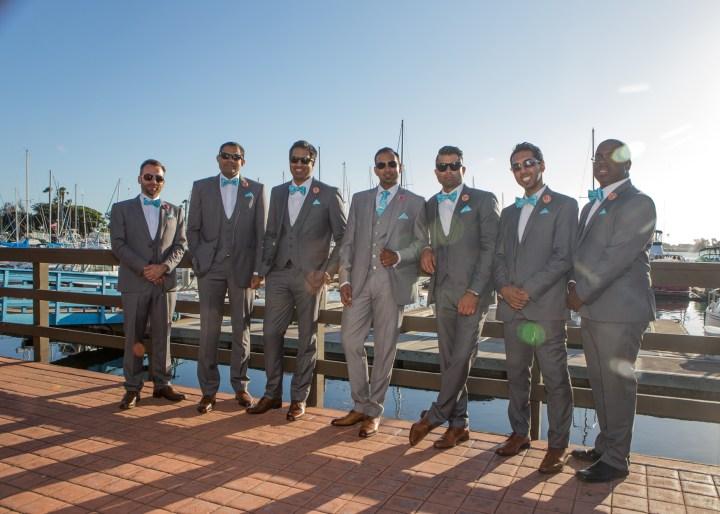 Ashmi-Suraj-Indian-wedding-venue-baraat-Hindu-Jain-San-Diego-reception-wedding-party-bridesmaids-groomsmen