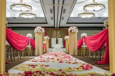 Indian wedding ceremony inside a ballroom at the Hilton Costa Mesa Orange County