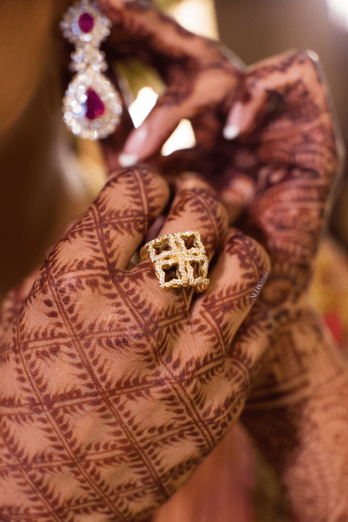 Indian wedding bride's mehndi