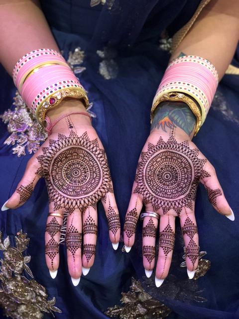 Indian wedding bride's mehndi