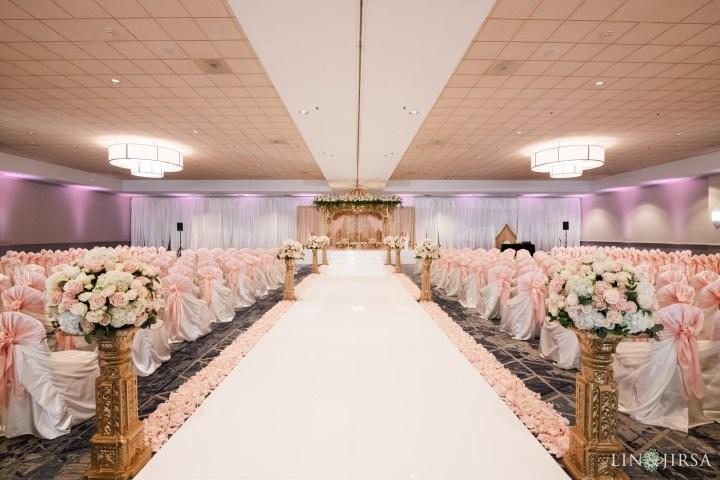 Indian wedding ceremony in the Santa Rosa Ballroom at the Delta Marriott Anaheim Garden Grove.