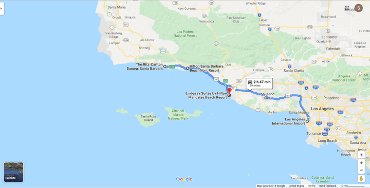 Map-LAX-to-Santa-Barbara-Venues