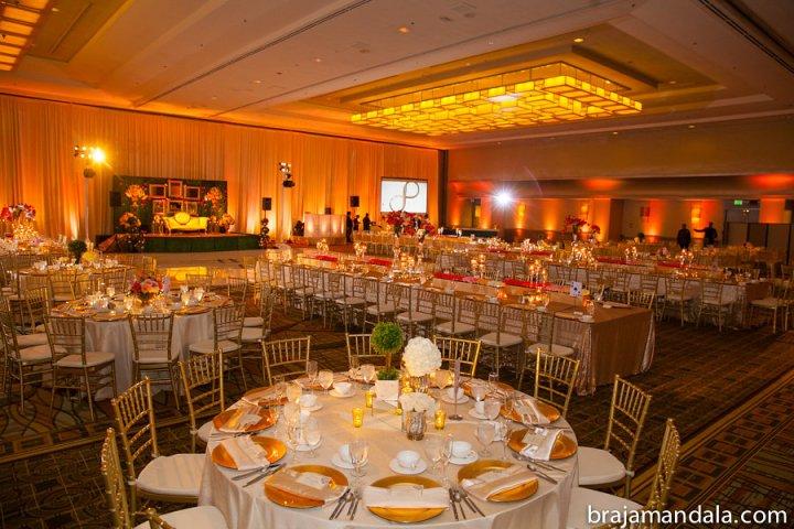 Indian wedding reception at the Hilton Anaheim.