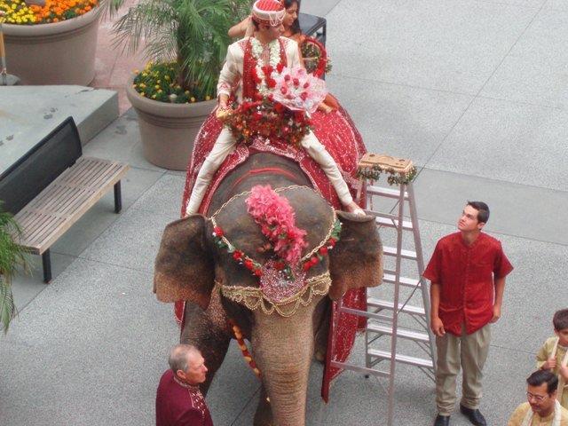Indian wedding baraat at Hilton Long Beach.