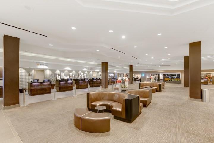 Lobby at the Hilton Anaheim.