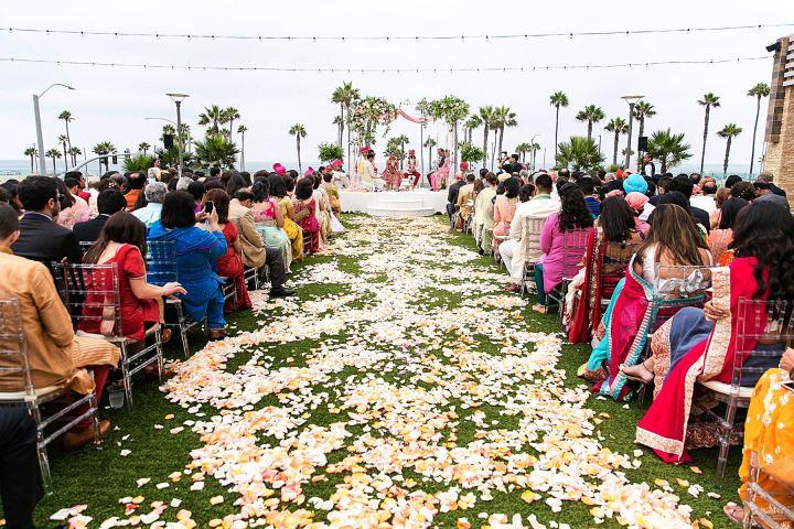 Indian wedding Hindu ceremony at Pasea Hotel & Spa