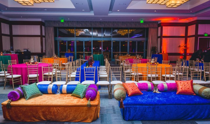 Indian wedding sangeet at the Westin Long Beach