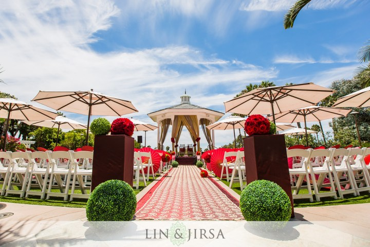 Indian wedding ceremony in the Rose Garden at the Newport Beach Marriott