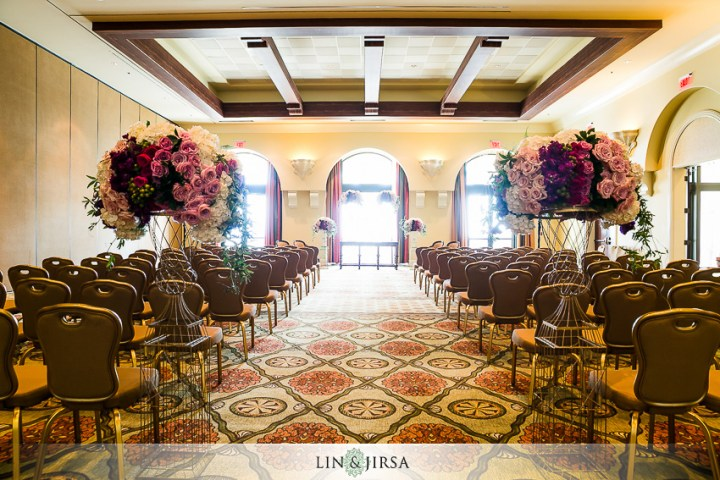 Indoor Muslim wedding ceremony setup