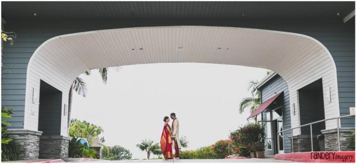 Indian couple romantic photo a Laguna Cliffs Marriott