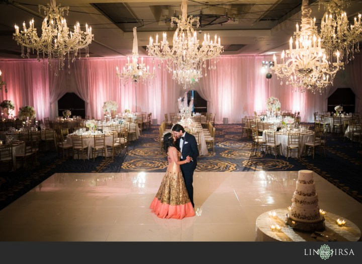 Indian couple romantic photo in Henry and Dana Ballroom