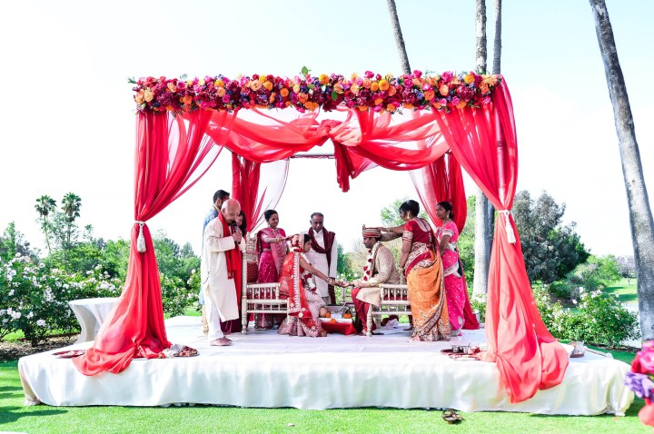 Indian wedding mandap at Los Coyotes Country Club.