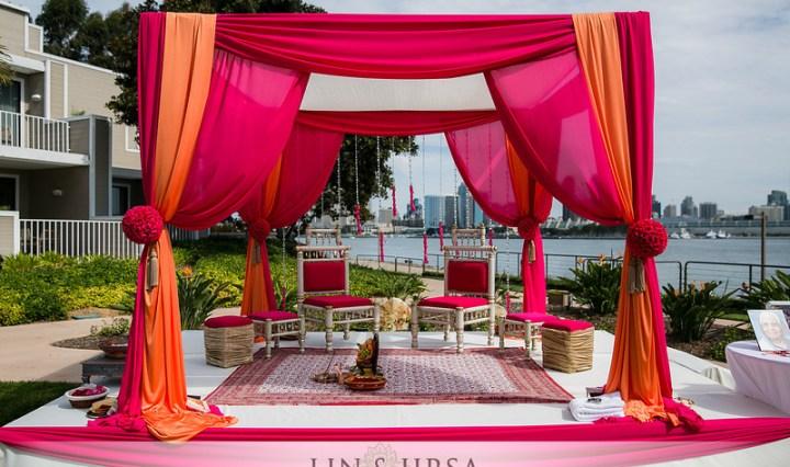 Indian wedding mandap in San Diego