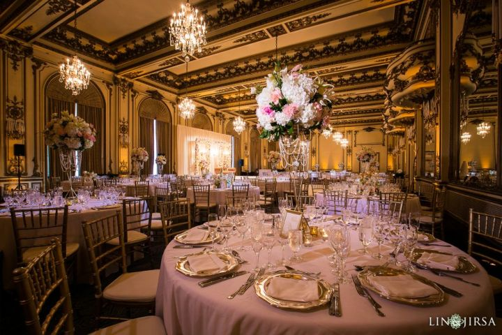 Indian wedding reception in the Gold Room at the Fairmont San Francisco