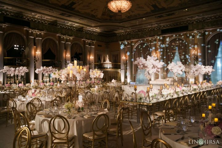 Golden grace chairs and decor for an Indian wedding reception