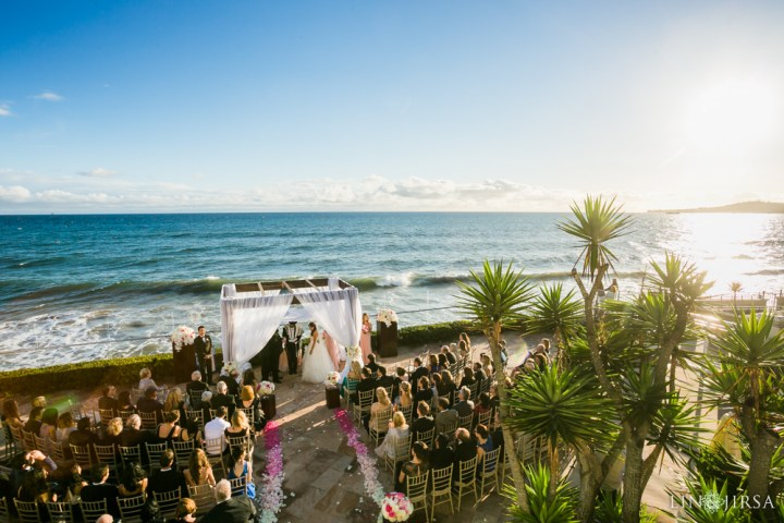 Oceantfront wedding ceremony at the Four Seasons Biltmore Santa Barbara