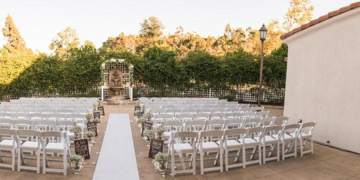 wedding ceremony at the Clubhouse at Anaheim Hills Golf Course