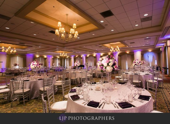 Indian wedding reception in the Sycamore Ballroom at the Clubhouse at Anaheim Hills Golf Course