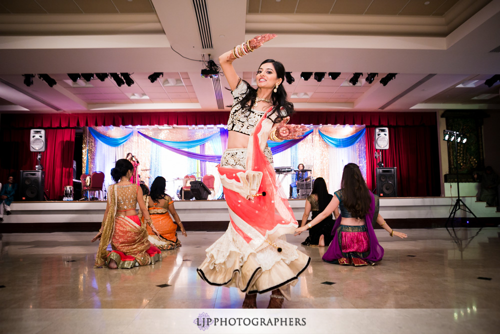Garba/Sangeet for an Indian wedding at the Jain Center of Southern California