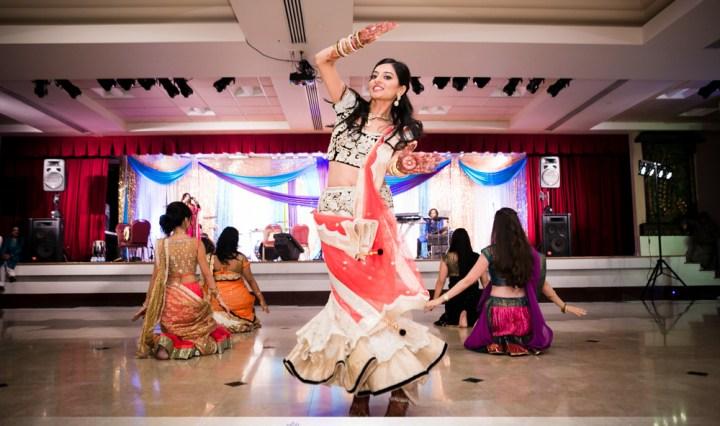 Garba/Sangeet for an Indian wedding at the Jain Center of Southern California