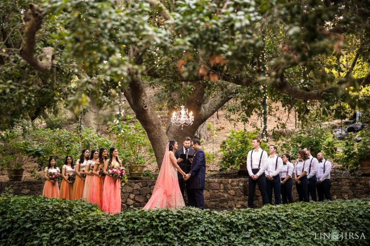 Oaktree wedding ceremony at Calamigos Ranch