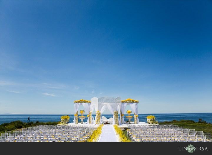 Oceanfront Indian wedding Mandap at Sandpiper Golf Club