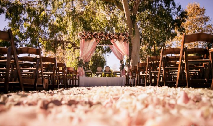 Indian wedding mandap at Galway Downs in Temecula