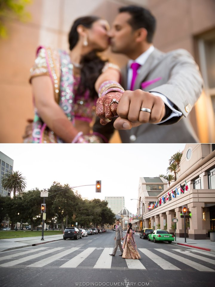 Indian couple photo session on their wedding day