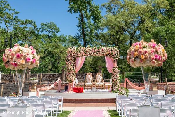 Indian wedding floral mandap at Silverado Resort & Spa