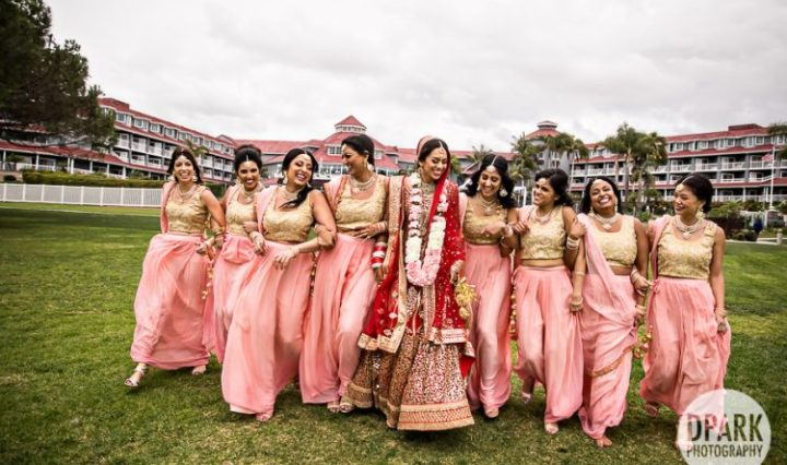 Indian wedding bridesmaids