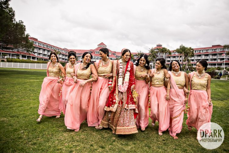 Indian wedding bridesmaids