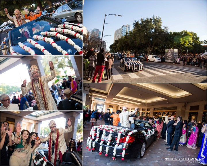 Indian wedding baraat in downtown San Jose