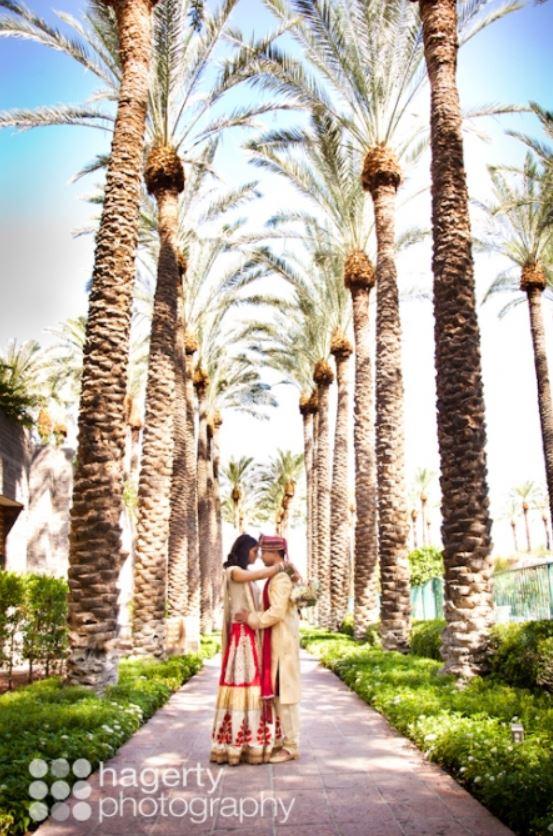 Indian wedding romantic shots at Hyatt Regency Scottsdale Resort & Spa