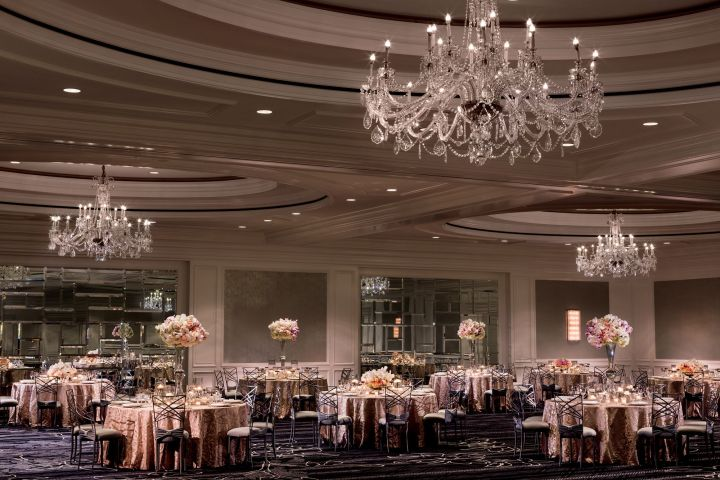 The largest ballroom at The Ritz-Carlton San Francisco
