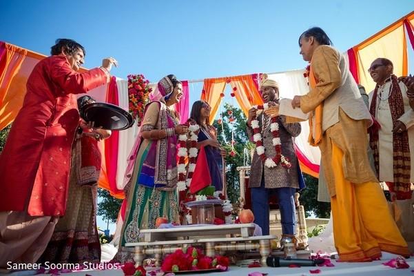 Indian wedding mandap at the Pullman San Francisco Bay