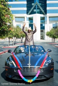 Indian groom arriving for his baraat at the Pullman San Francisco Bay