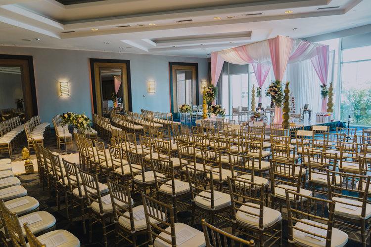 Indian wedding mandap Royal Sonesta Boston