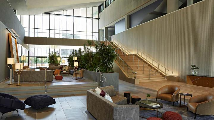 The lobby of the Kimpton Sawyer Hotel