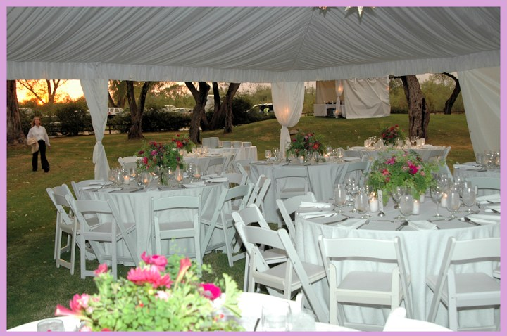 Tented banquet at La Mariposa Resort in Tucson