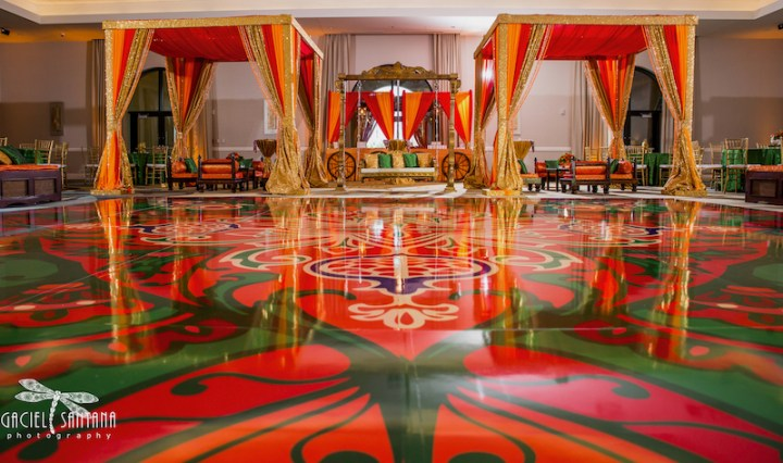 Indian wedding decor for a sangeet