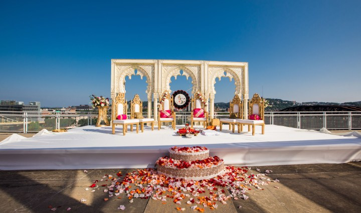 Outdoor Indian wedding ceremony at The Westin Pittsburgh