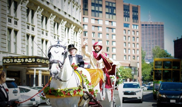 Indian wedding baraat at Boston Park Plaza
