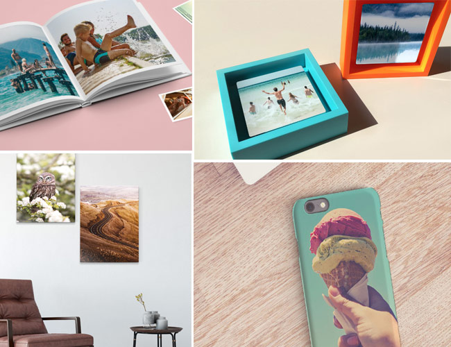 photo albums and picture frames that can be made in the Share-Your-Photos app