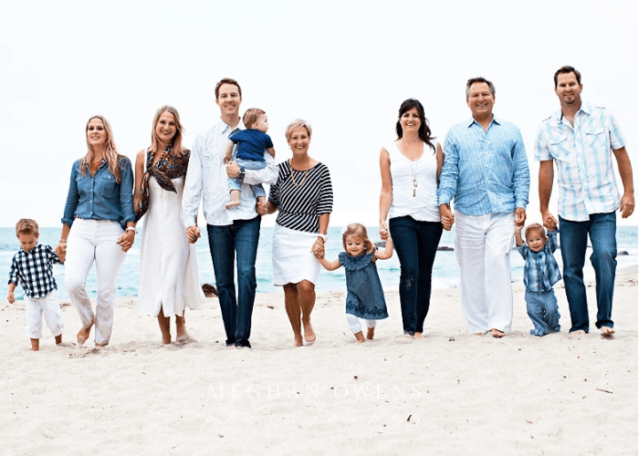 family beach photo