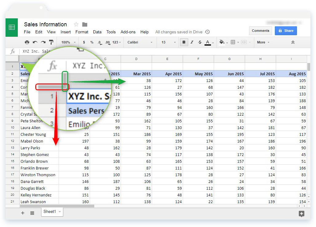 How can I freeze rows and columns in Google Sheets? - Blog Sheetgo