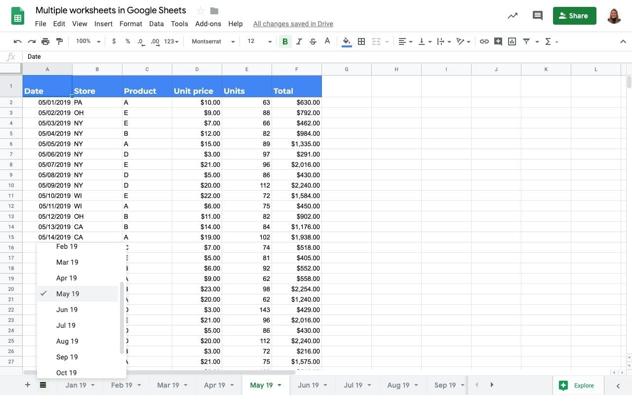 How To Work With Tabs Sheets In Sheets
