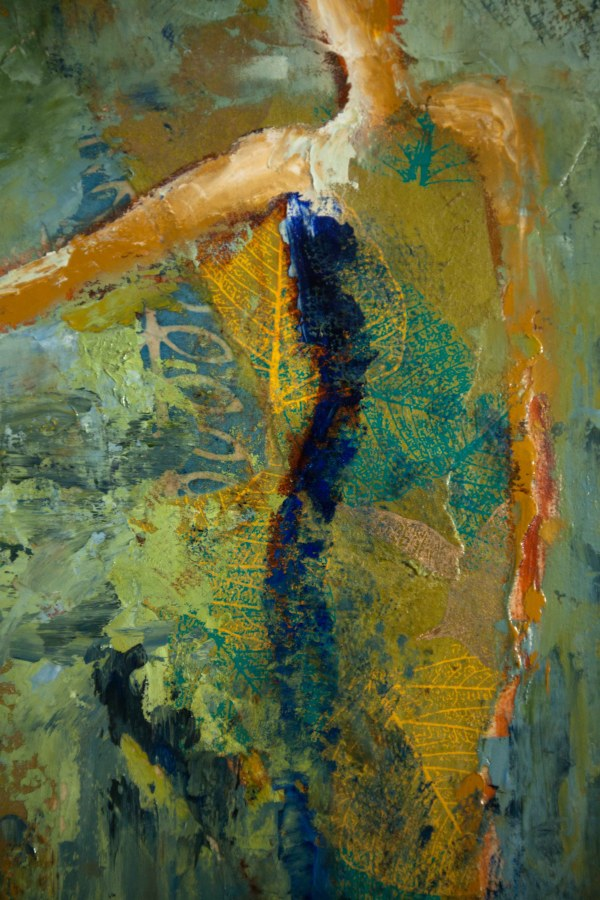 Abstract Figurative Mixed Media Art Wet Paint