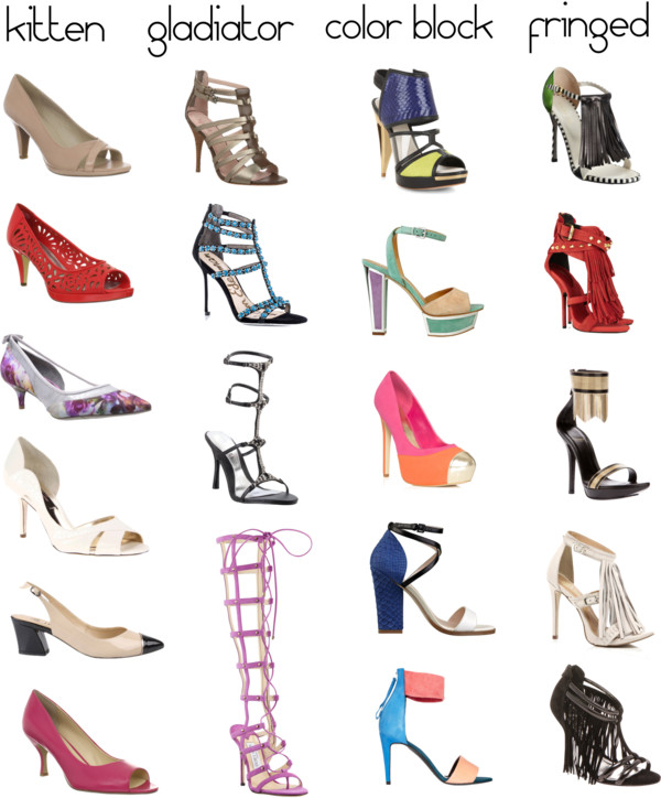Shoe Dictionary: The Different Types of Heels - She Likes Shoes Blog